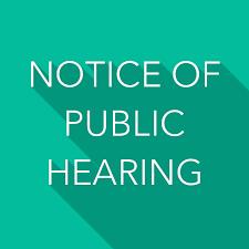 BINA Public Hearing Notice