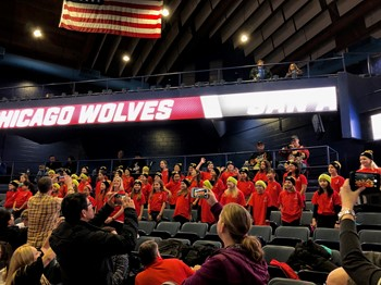 Sullivan Choir Represents Our School At The Chicago Wolves Hockey Game