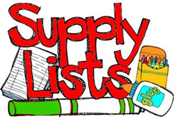 What school supplies will my child need?