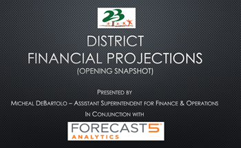 5 Year Financial Projections Presentation January 2019.