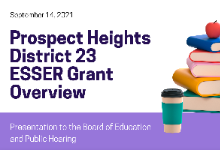 District 23 ESSERs III Plan
