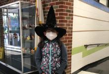 3rd Grader dressed up for Halloween.