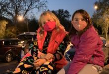 Students at Movie Night.