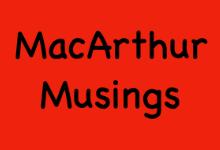 MacArthur Musings 2020 - 2021