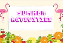 Pre K - 1 Summer Choice Boards/ Actividades de verano