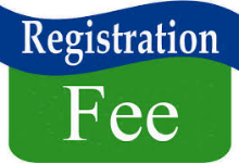 Registration Fee Payment Due August 1, 2019