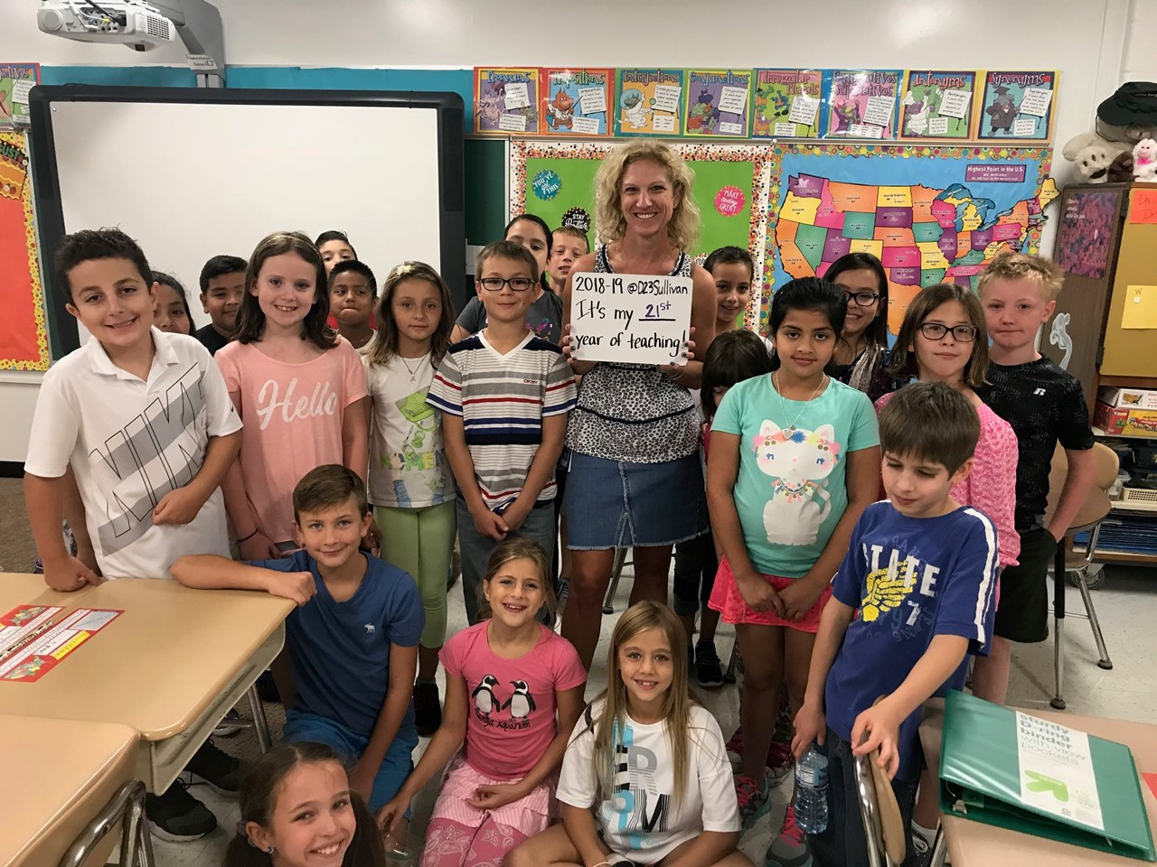 Mrs. Brusso's 4th Grade Class from the start of the year