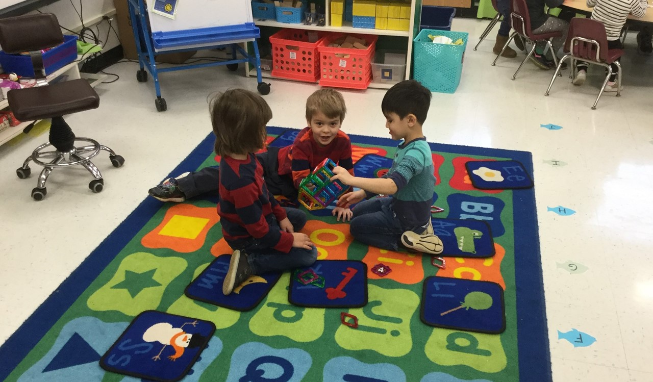 Early Childhood Students Working Together