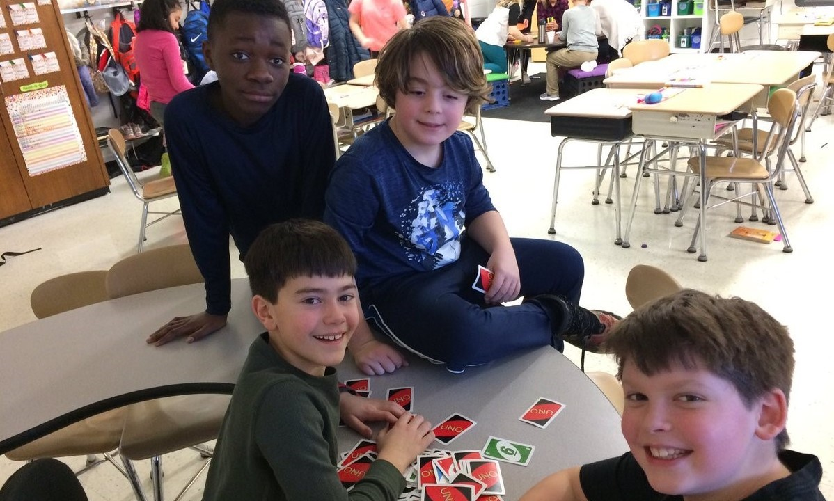 Game time with UNO cards