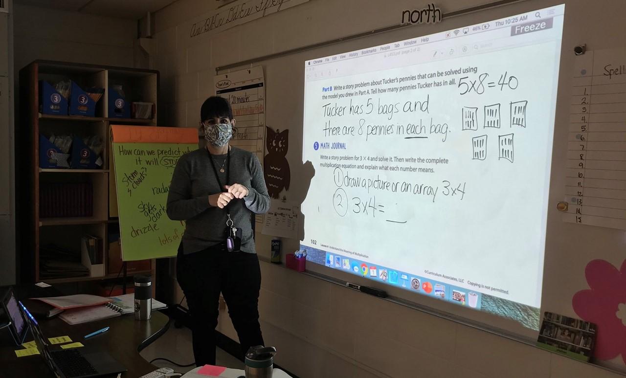 Mrs. Z teaching