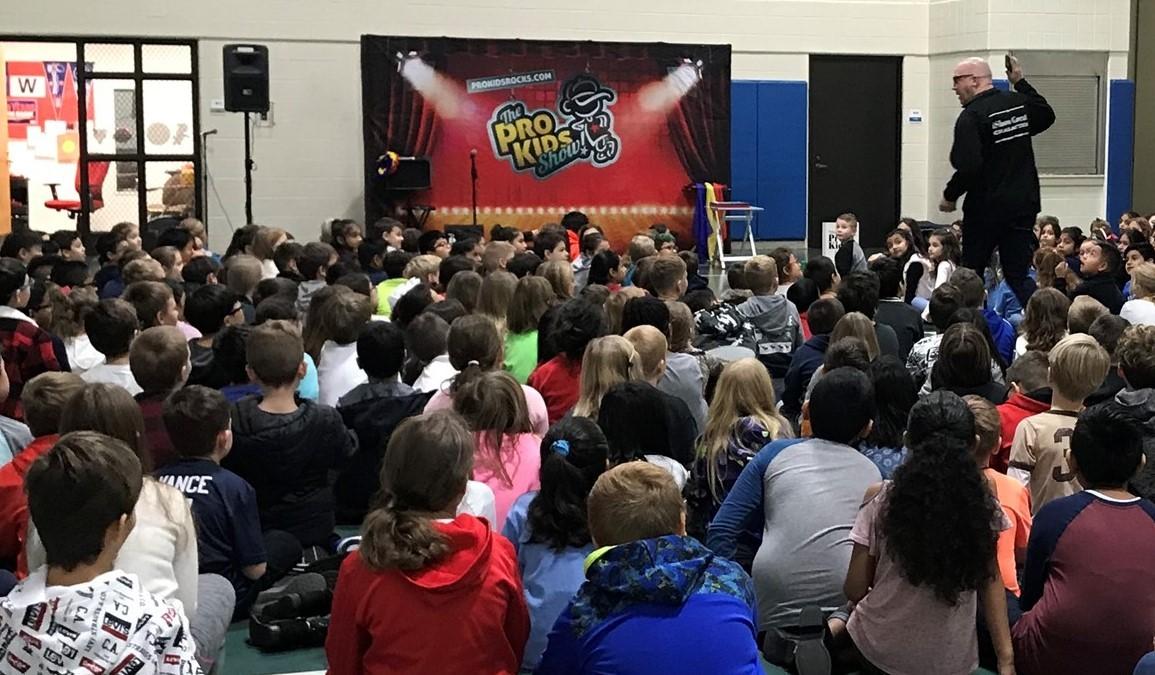 Students Attending a Pro-Kids Assembly
