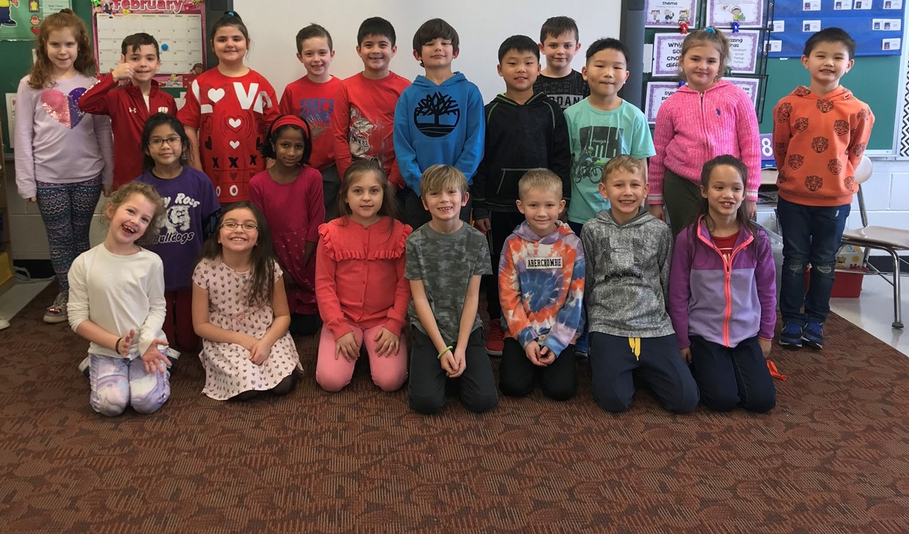 Mrs. Bennett's Class at the Valentine's Day Party!