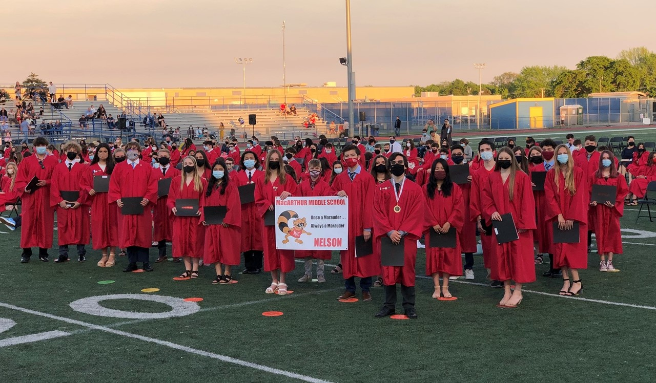 Picture of Mrs. Nelson's Cohort at 8th Grade Promotion