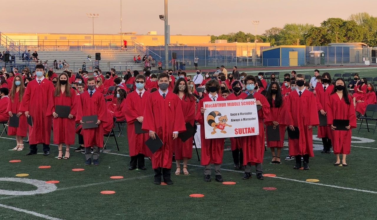 Picture of Mr. Sultan's Cohort at 8th Grade Promotion