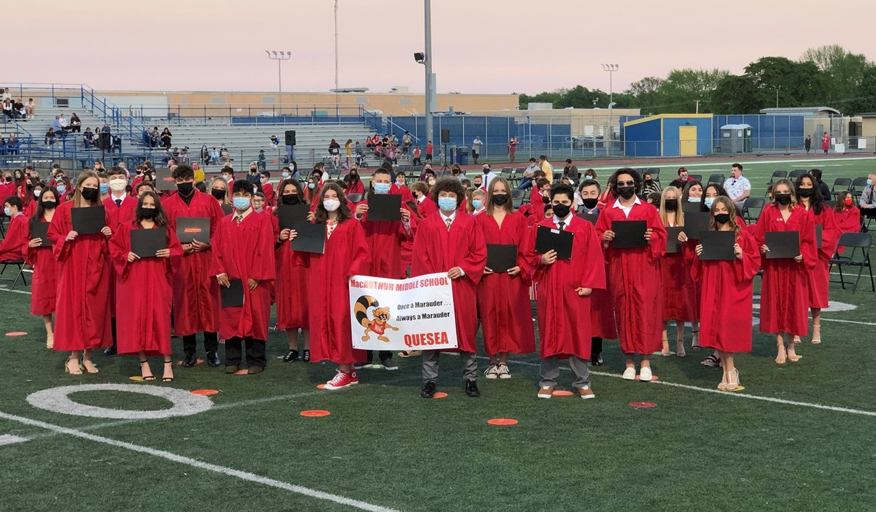 Picture of Mr. Quesea's Cohort at 8th Grade Promotion