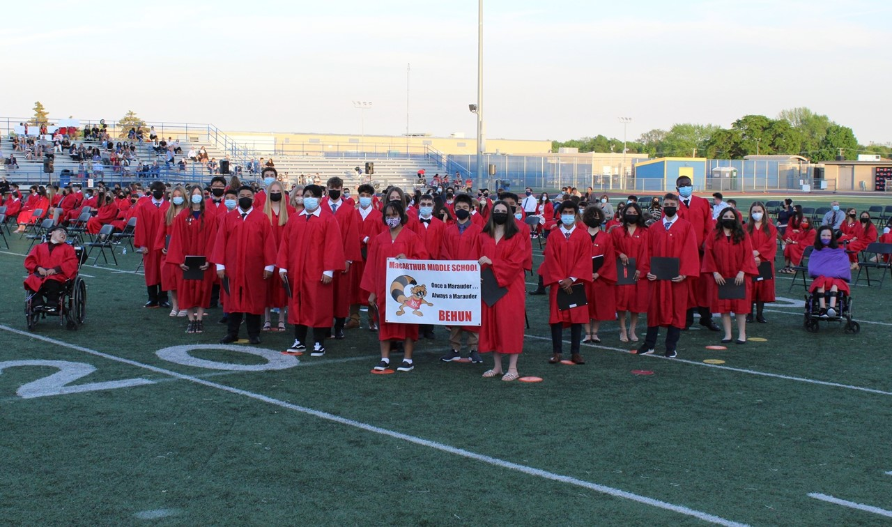 Picture of Mr. Behun's Cohort at 8th Grade Promotion