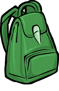 Image of green backpack